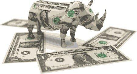 7758122 - dollar origami rhino