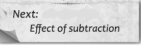 Next bottom effect of subtraction