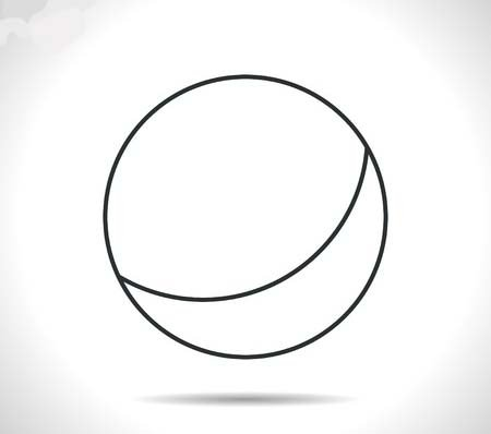 46146545 - vector outline classic grey ball icon on white background