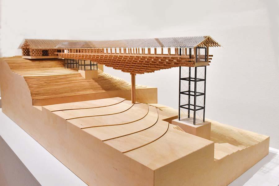 Yusuhara Wodden Bridge Museum by Kengo Kuma