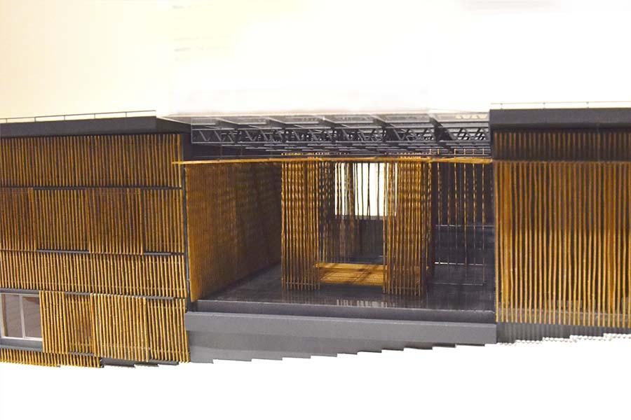 The Great Bamboo Wall designed by Kengo Kuma