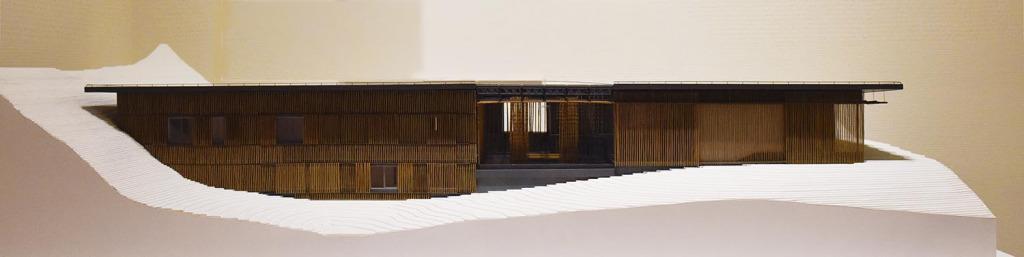 Great Bamboo Wall designed by Kengo Kuma