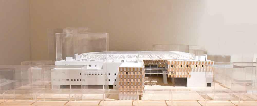The Nagaoka City Hall Aore designed by Kengo Kuma